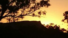 Beautiful Mt Gillen at sunset in Alice.