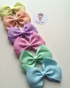 Pastels 🎀🎀 2 5 bows 25 each Large Hair Bows, Ribbon Hair Bows, Bow Hair Clips, Hair Bow Tutorial, Boutique Hair Bows, Diy Bow, Girls Hair Accessories, Girls Bows, Baby Bows