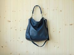 Small leather purse - ALICE in navy by Adeleshop on Etsy