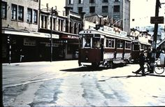 Timespanner: Wellington trams, cable cars, trolleys and harbour Wellington City, Wellington New Zealand, British Isles, Old Photos, Cable, Street View, Tours, Trains, Models