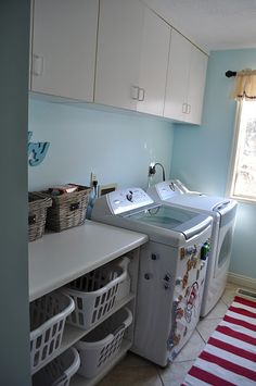 Beautiful transformation of a mudroom/laundry room.