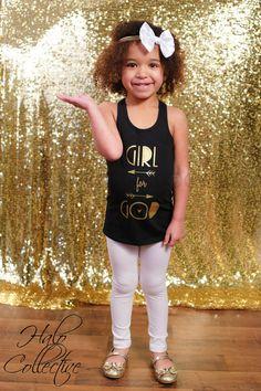 Girl for God Shirt, Faithbased Shirt, Girls Tshirt, Toddler Girl, Black Tank, Christian Shirt