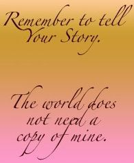 Tell your story. Don't assume that it is ordinary. How has Jesus transformed you? Tell it in paint, music, dance, clay or in any way you can.