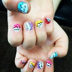 Dazzle with colour. Come in to redo this look! #aritumspa #nails #nailart #manicure