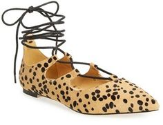 Women's Callisto 'Rian' Ghillie Lace Pointy Toe Flat