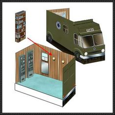 Doctor Who - UNIT Mobile HQ Free Papercraft Download - http://www.papercraftsquare.com/doctor-unit-mobile-hq-free-papercraft-download.html