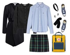 """""""Back to Uni"""" by aster-rubidus ❤ liked on Polyvore featuring NLY Trend, See by Chloé, Fjällräven, Polo Ralph Lauren, Monki, Converse and Georg Jensen"""
