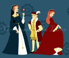 Cartoon of the Tudor Children (Disney style) by ~Comtessedelalune on deviantART.
