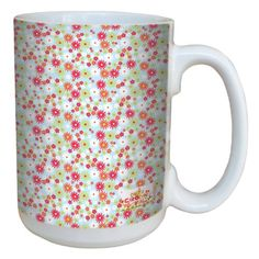 TreeFree Greetings lm43529 Homey Little Daisies by Carolyn Gavin Ceramic Mug with FullSized Handle 15Ounce ** You can get more details by clicking on the image.