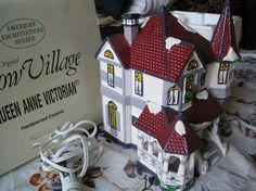 Victorian snow village