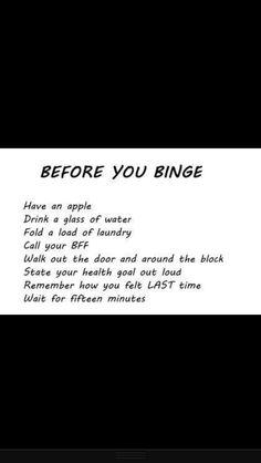 Before you binge..