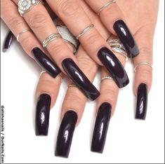 Faux Ongles Long, Coffin Nails, Acrylic Nails, Nail Polish Hacks, Nail Ring, Sexy Nails, Long Nails, Nail Colors, Manicure