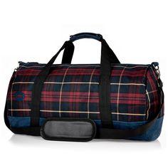 Plaid Fabric Duffle Bag