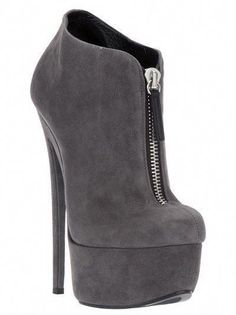 6236762b977b MUST HAVE Grey suede ankle boots from Giuseppe Zanotti Design featuring an  almond toe