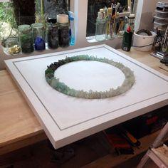 Circle of Life commission, Sea Glass & Wood, X Sea Glass Crafts, Sea Glass Art, Sea Glass Jewelry, Mosaic Art, Mosaic Glass, Seashell Art, Sea Art, Circle Of Life, Pebble Art