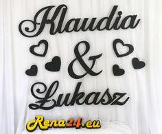 Imiona na ściankę Klaudia&Łukasz