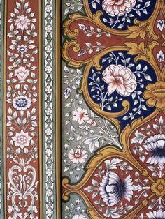 Wall-Art in Indian Palaces. Fort Kuchaman, Rajasthan, India artnlight: http://artnlight.blogspot.com/2009/03/wall-art-in-indian-palaces.html#