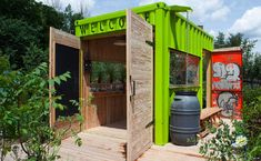 Welcome Hut at Evergreen's Brick Works - lovely idea for a garden studio