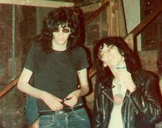 "theramones:""Joey Ramone & Stiv Bators at Cedar's Lounge, Youngstown, Ohio"""