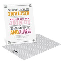 Stamped Fonts -- Vintage Birthday Invitations