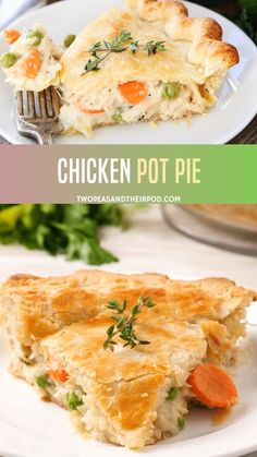This classic homemade chicken pot pie is the ultimate comfort food! Buttery, flaky chicken pot pie crust filled with shredded chicken, vegetables, and a creamy sauce. Learn how to make this easy chicken pot pie recipe at home and you'll never buy a chicke Chicken Pot Pie Crust, Homemade Chicken Pot Pie, Best Chicken Recipes, Chicken Pot Pie Recipe Crescent Rolls, Chicken Potpie Recipes, Chicken Pot Pie Recipe Dairy Free, Easy Pot Pie Recipe, Chicken Pop Pie, Chicken Pot Pie Recipe With Bisquick