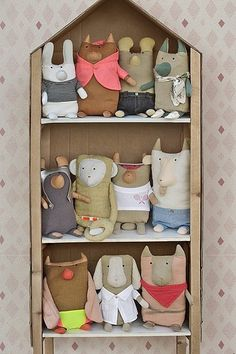 beautiful collection of toys, do you like them? softies, textile toys / soft toys