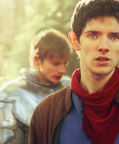 Merlin x Arthur ...Ahhhhh!!!!! His eyes... Gosh, they're so adorable. I love that show!!!!!!!!!! :)