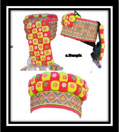 Hmong hat. Ethnic Fashion, I Love Fashion, Hmong Clothing, Turkey Brine, Traditional Clothes, Historical Costume, Jewelries, Baby Hats, Free People