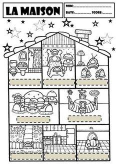 D crire une chambre situer les objets expression en fle pinterest - Piece de la maison en c ...