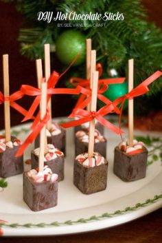 DIY hot chocolate sticks