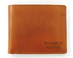 Box Tan Leather Wallet