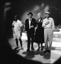 Old Photo Frank Sinatra Louis Armstrong Bing Crosby Peggy Lee