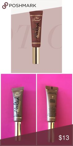 Too Faced Melted Chocolate Lipstick Too Faced Melted Chocolate Liquified Metallic Lipstick  0.40 Fl. Oz.   Never used it, squeezed it to see the color 12117F Too Faced Makeup
