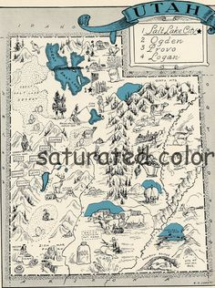 Iowa Map Vintage Map State Picture Maps Iowa A Fun And Funky - Vintage iowa map