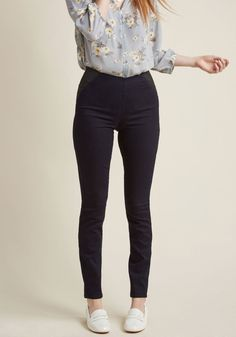 Sleeks for Itself Pants in Dark Denim in XL - Skinny Pant - Plus Sizes Available