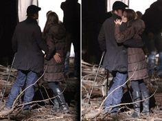 Angelina Jolie and Brad Pitt engage in PDA on Budapest film set - NY Daily News