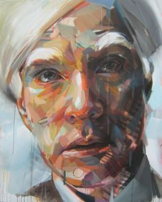 A series of dynamic paintings by french painter Pascal Vilcollet.