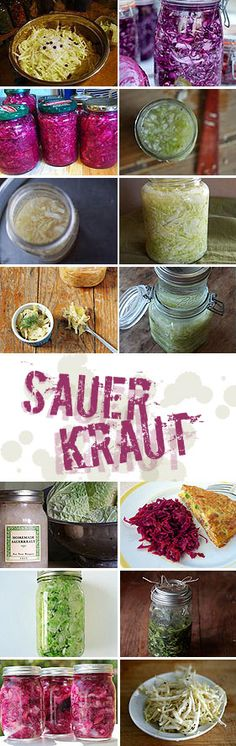 Cabbage + salt + time = magic. One of the easiest lactofermentation projects you can do, sauerkraut is delicious and full of healthful probiotics. Start now to have some for St Patty's Day!
