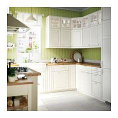 IKEA - BODBYN, Tür, elfenbeinweiß, 40x80 cm, , Gefaste Kanten und Kassettenfüllung geben BODBYN Türen einen besonderen traditionellen Charakter. Die cremeweiße Farbe taucht die Küche in ein warmes Licht.Lackierte Fronten sind glatt und ebenmäßig, leicht zu pflegen und widerstandsfähig gegen Feuchtigkeit und Schmutz.Inklusive 25 Jahre Garantie. Mehr darüber in der Garantiebroschüre.Die Tür kann wahlweise mit der Öffnung nach rechts oder links montiert werden.