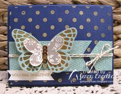 Giddy Stamper, Stampin' Up! Butterfly Card using CCMC361 from Create with Connie & Mary