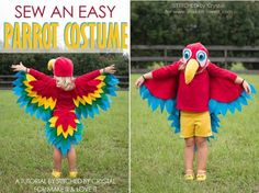 Tutorial: Easy parrot costume