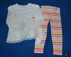 NWT Gymboree 2T Girl's Two Piece Striped Outfit Set #Gymboree #Everyday