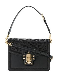 Dolce Gabbana Lucia Shoulder Bag Black