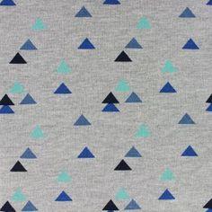 Tissu sweat Delta - bleu x 10cm