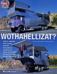 """""""Wothahellizat"""" is Australia's largest and weirdest off-road motorhome - I still love this thing :) - To connect with us, and our community of people from Australia and around the world, learning how to live large in small places, visit us at www.Facebook.com/TinyHousesAustralia or at www.tumblr.com/blog/tinyhousesaustralia"""