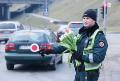 For the last couple of years, Lithuanian officers have been pulling women over for the most beautiful reason during International Women's Day. Instead of giving ladies a ticket, they hand them flowers to celebrate the occasion.