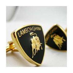 Mens Cufflinks Copper Fashion Cuff links golden Lamborghini Logo ...