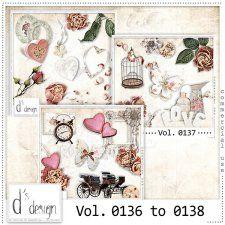 Vol. 0136 to 0138 - Vintage Mix  by Doudou's Design  #CUdigitals cudigitals.com cu commercial digital scrap #digiscrap scrapbook graphics