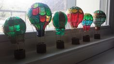 DIY Hot Air Balloons from Recycled Light Bulbs
