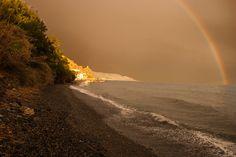 Rainbow at Castillo de Baños | por Jillcolms